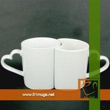 11oz sublimation blank heart handle lover mug