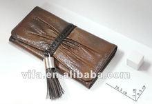 fashion ladies leather ladies tassels walle /Clutch Bag