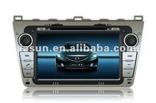 "Hot sale 8"" HD digital touch screen Car gps navigation for Mazda 6"