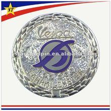 Promotional luxury metal 3d round car emblems