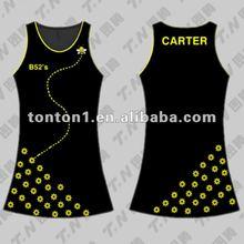2012 latest black netball dress designs wholesale