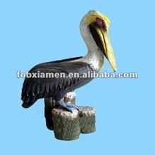 Decorative novelty bird resin indoor pelican statue