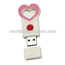 free sample !!! Heart shape usb drive/usb stick 2GB/4GB/8GB/16GB with your logo for company