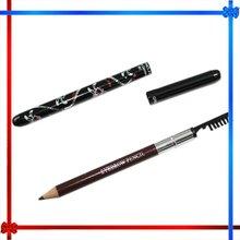 Eyebrow pencil with eyelash brush