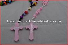religious rosary crucifix cross statue keychain pendant wooden beads souvenir christian usb flash drive