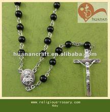 religious rosary crucifix cross statue keychain pendant wooden beads souvenir crystal muslim tasbih