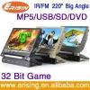 Erisin Twin Slim Screen Portable DVD Player-9 inch