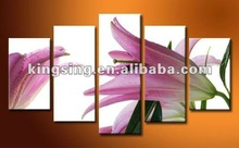 Wholesale Wall decoration morden flower pictures painting in group