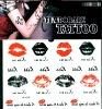 2012 Hot Sell Lip Tattoo Sticker