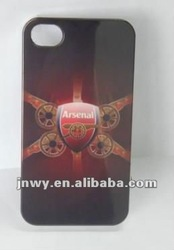 for iphone 4g/4s case with arsenal design ,IMD craft