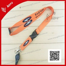 2012 custom neck lanyard with safety clip and whistle