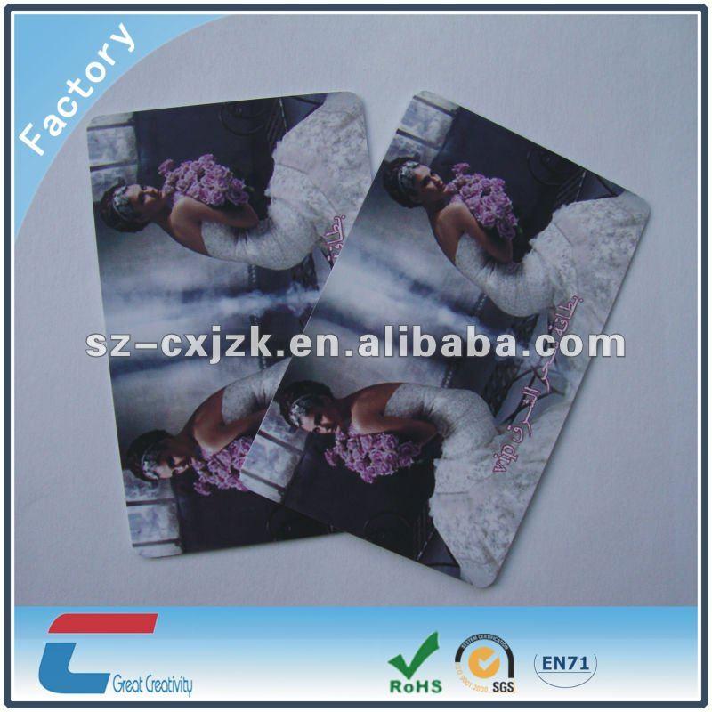Plastic Wedding Invitation Card Pvc Material
