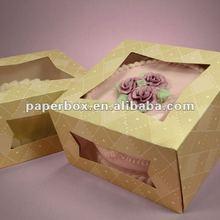 Diamond Pattern Dual Window Front Load Cake Box