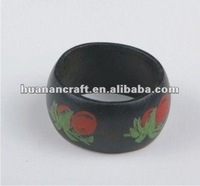 since 1993 factory wooden napkin ring table decoration restaurant acrylic wedding table decoration