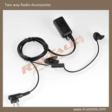 radio earpieces with ear plug&bone microphone with K1/M1/Midland/Hirose Connectors