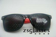 wholesale custom design funny pinhole glasses with logo lens/promotional pinhole glasses