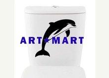 Dolphin toilet DECAL Home Decor, Vinyl Wall Art, Shower, Bathroom, Interior Design No.1084 ART-MART