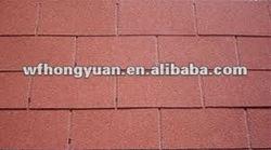 red asphalt roofing shingle