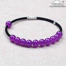Velvet Rope Purple Glass Bangle Bracelet