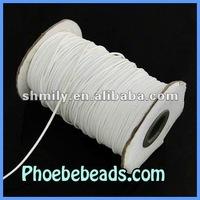 Wholesale 1mm 200 Yards/Roll Shamballa Bracelet White Waxed Cotton Cord WCT-012A
