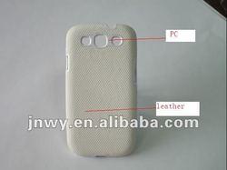 pu leather case for samsung galaxy s3 i9300 white striped ,PC+PU