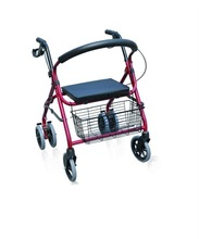 Folding Aluminum Rollator alloy with Shopping basket and hand brake 5622