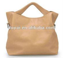 2012 genuine leather retro big black bag for women