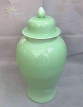 Three Heights China Ceramic Porcelain Celadon Tall Temple Jars