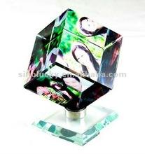 glass cube photo frame