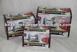 fabric gift box, treasure chest, print packaging box
