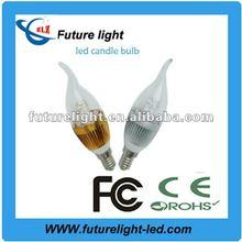 2012 new design led candle bulb 3*1w