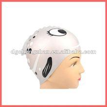2012 the most fashion silicone swim cap