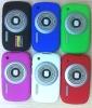 Retro 3D Camera Silicon Case for Blackberry 8520