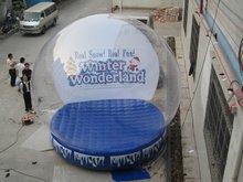 2012 transparent inflatable tent size