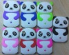 Cute silicone back case with 3d panda pattern cartoon cover case for IPod Touch 4