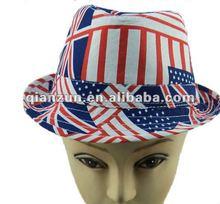 whole sale custom flag children's fedora felt hat