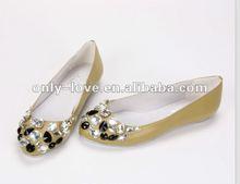 BS555 custom make ladies crystal flat shoes