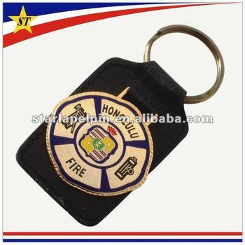 Promotional custom cut keychain leather