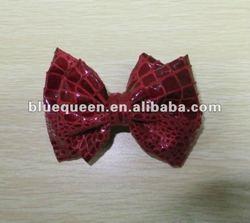 fashion leather bow barette