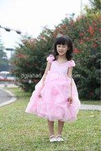 Best-selling pink bead V-collar girl wedding dress 2012