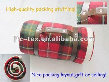 Fleece picnic polyester blanket