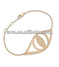 fashion girls gold plated evil eye bracelet
