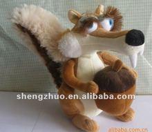 Ice Age plush toys, stuffed plush squirrel