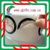 low adhesive sticker/non adhesive sticker/white pvc stickers