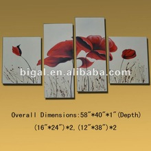 pop abstract flower group oil paintings for wall decor