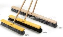 6672/6663/6674 Medium Floor Sweep with pp bristle and wood handle