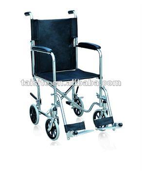 Removable folding footboard Folding Steel-pipe frame steel wheel chair for the elderly CE 4620-3