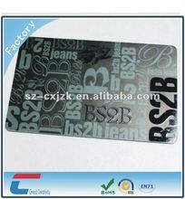 Plastic PVC UV coating membership card