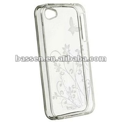 clear flower butterfly TPU gel case for iphone