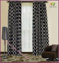New Luxury Black White Jacquard Curtains Fabrics